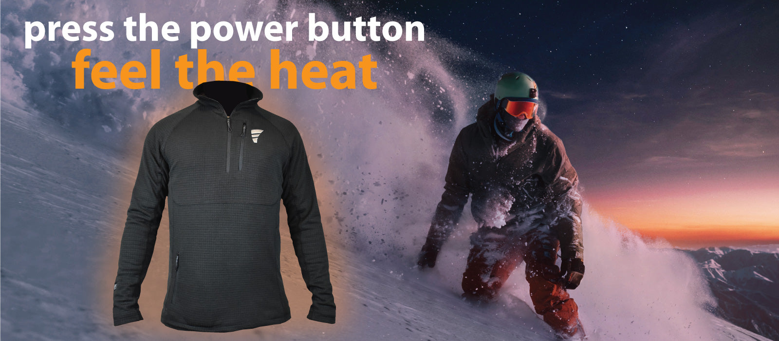 an electric battery powered heated shirt that is designed to keep your core toasty warm on the coldest winter days.  Features three heat settings, two large heat pads and super slim power bank battery.
