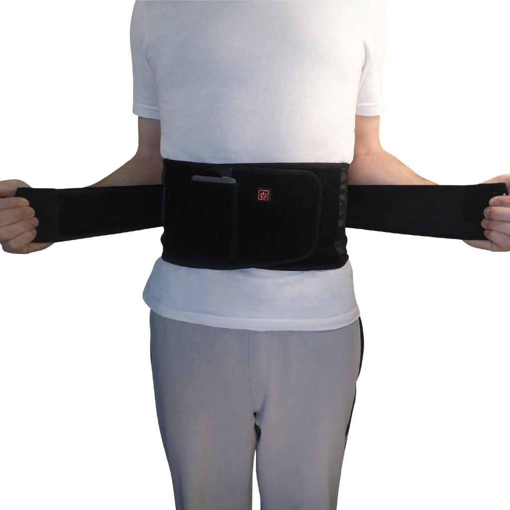 fitback the torch electrek heated back lumbar support has adjustable compression straps for an easily adjustbale and perfect fit for maximum comfort