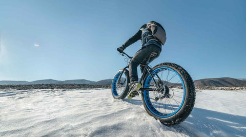 fat tie biking with heated apparel