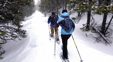 snow shoeing heated apparel