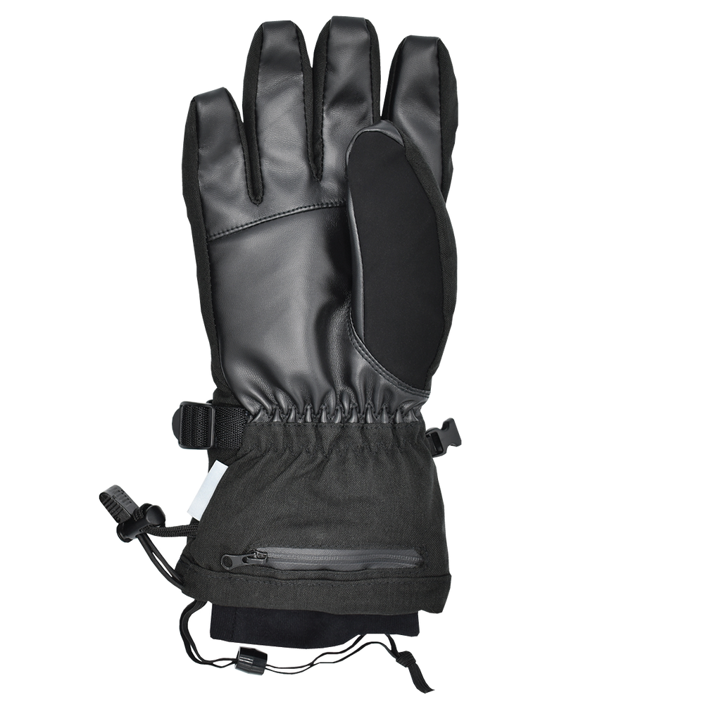 the torch electrek heated revolt gloves have an innovative design with waterproof ykk zippers that hold the battery under the wrist for the most ergonomic position for mobility and comfort