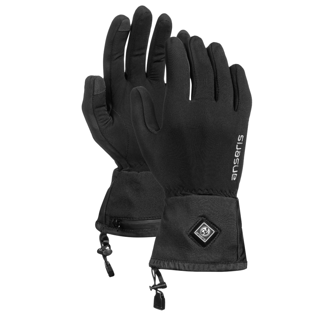 The new 2020 anseris heated glove heats around the fingers with a heating element powered by a rechargeable battery for an intense warmth to keep your fingers toasty. powered by a thin flexible battery with easy to adjust heat settings.