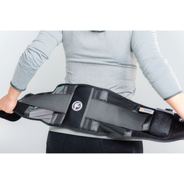anseris heated clothing presents a battery powered heated lower back brace lumbar support belt helping with back pain from herniated disc, degenerative, sciatica treatment for men and women