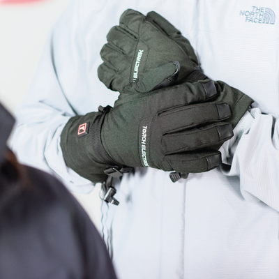 heated ski glove