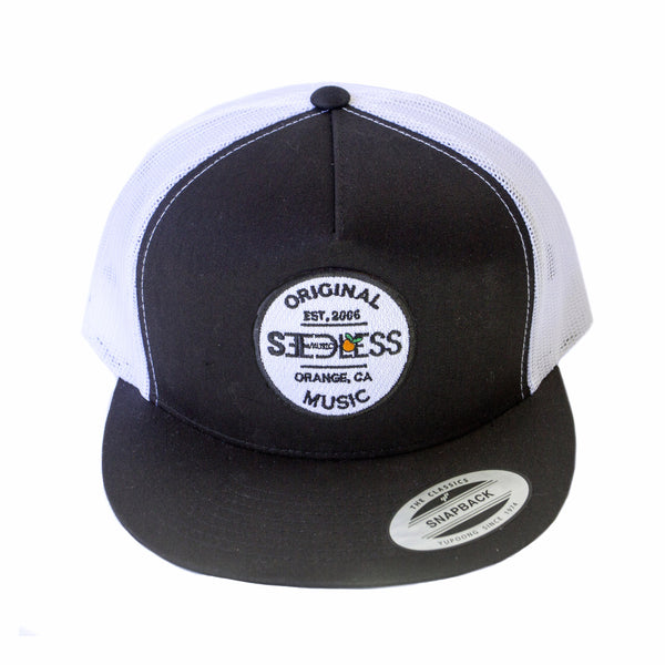 Black & White Seedless Snapback