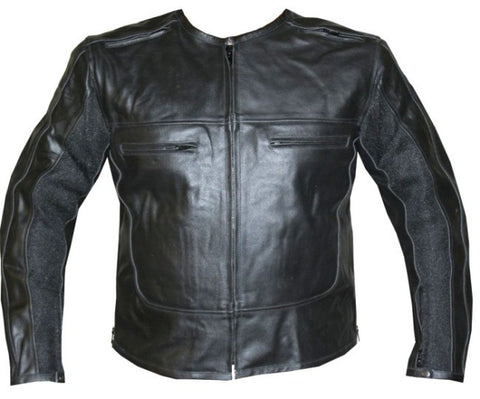 Stylish Leather Armor Motorcycle Jacket Black Armour