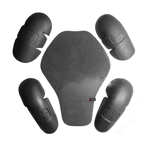 5PC 5-PC Black Replacment Armor Motorcycle Bike Jacket Safety Protectors