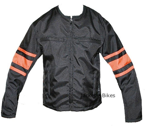 NEW WOMENS STYLISH MOTORCYCLE CORDURA JACKET BLACK