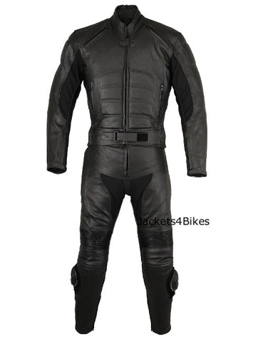 2PC MOTORCYCLE LEATHER RACING RIDING SUIT ARMOR