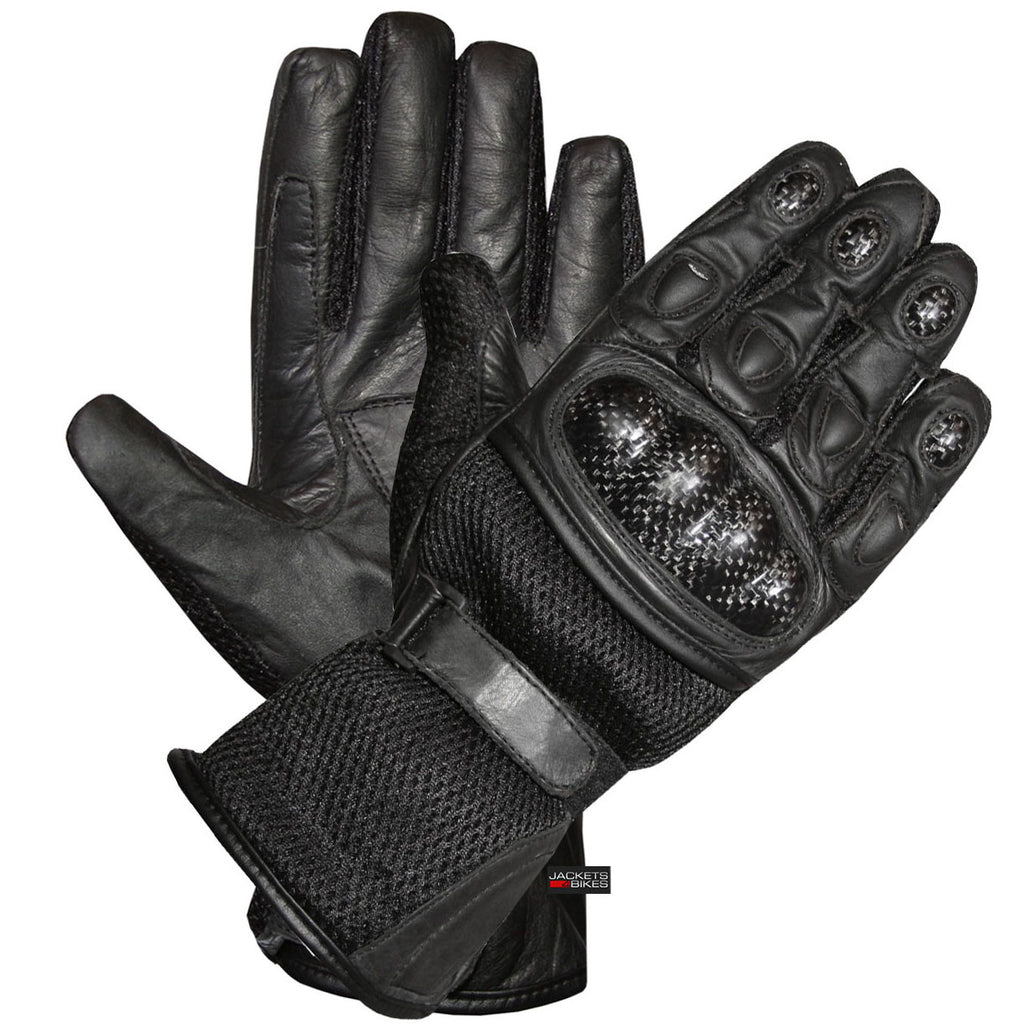 Motorcycle gloves discount - Carbon Fiber Motorcycle Mesh Leather Race Gloves