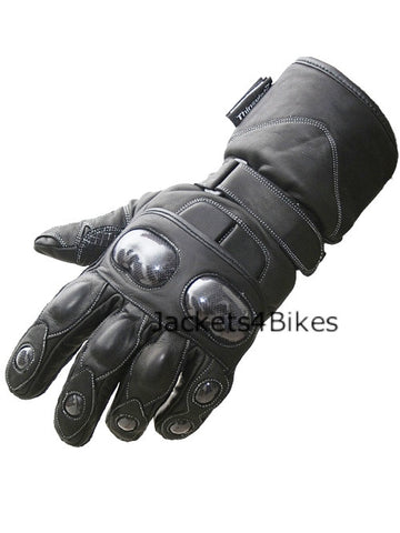 BLADE MOTORCYCLE GLOVES  ALL LEATHER BLACK