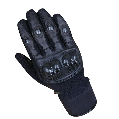 NEW FLEXIBLE MOTORCYCLE BIKE TACTICAL MOTOCROSS BLACK GLOVES