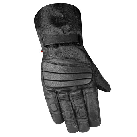 Men's Winter Ski Snowmobile Motorcycle Leather Thermal Waterproof Gloves