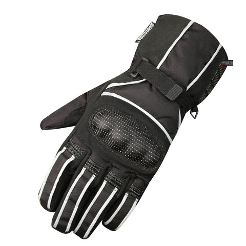 NEW MENS MOTORCYCLE GLOVES RAIN REFLECTIVE BLACK
