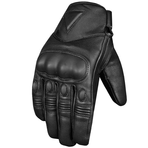 Men's Premium Leather Protective Cruiser Street Motorcycle Biker Gel Gloves