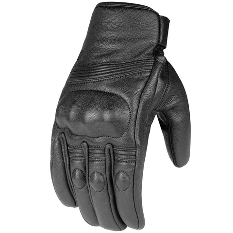 Premium Leather Men's Street Motorcycle Protective Cruiser Biker Gel Gloves