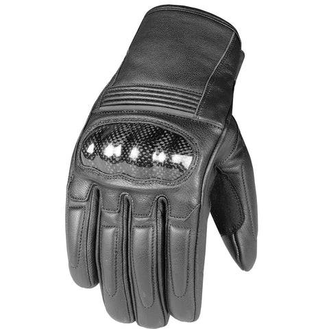 Men's Premium Leather Street Cruiser Motorcycle Palm Sliders Biker Gloves