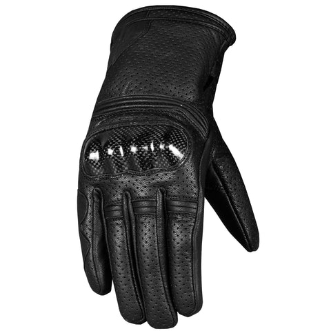 Men's Premium Motorcycle Leather Protective Perforated Cruiser Gel Gloves