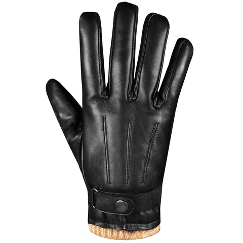 Men's Premium Lambskin Leather Winter Driving Dress Warm Cashmere Gloves
