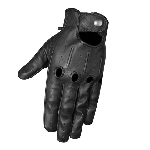 New Traditional Genuine Aniline Leather Driving Gloves Black