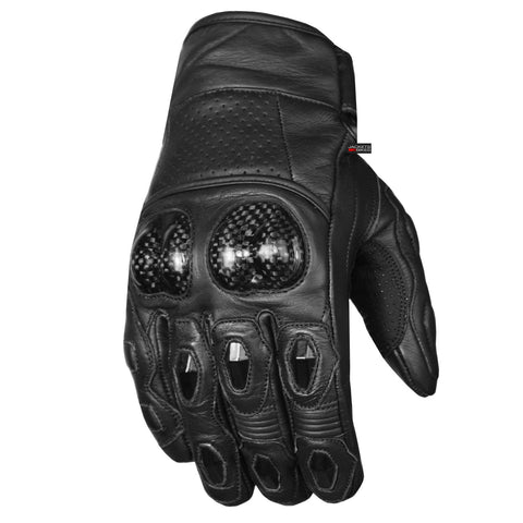 Men Aniline Cowhide Motorcycle Leather Gloves with Sliders