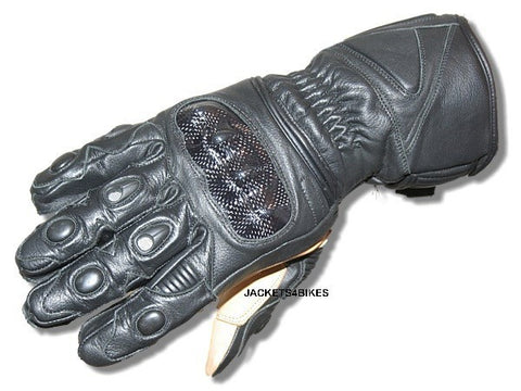 NEW MOTORCYCLE KANGAROO LEATHER  GLOVES BLACK