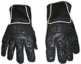 Womens Black Mesh Leather Motorcycle PU Gloves