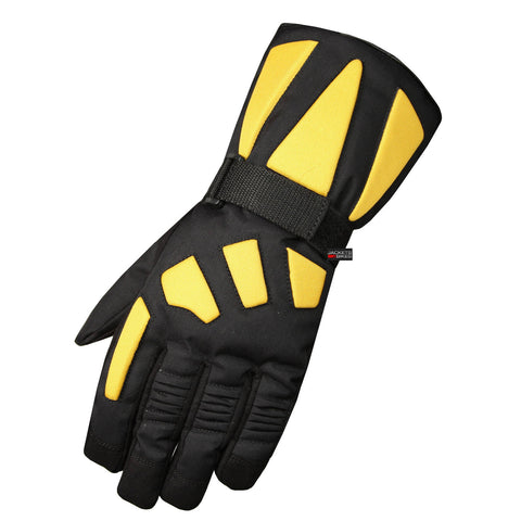 NEW WATERPROOF MOTORCYCLE GLOVES RAIN GEAR YELLOW
