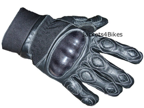 STUD PALM  MOTORCYCLE LEATHER SHORT GLOVES
