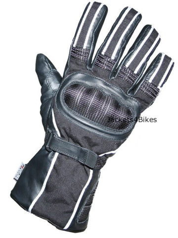 NEW RAIN WATERPROOF MOTORCYCLE BIKE GLOVES BLACK