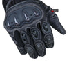 Motorcycle Leather Gloves G88 [VENTILATION] for summer [Good Fit] - Black