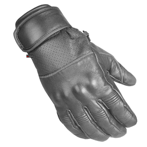 Men's New Motorcycle Leather Armor Gel Padded Ventilated Reflective Gloves