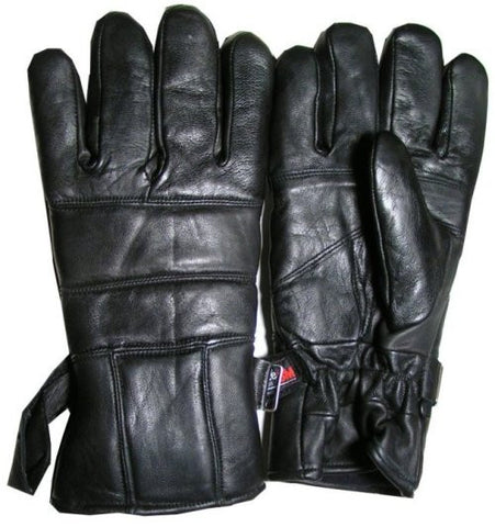 LEATHER THINSULATE GLOVES MOTORCYCLE BIKE RIDERS