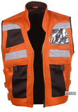 VT MOTORCYCLE ORANGE REFLECTIVE VISIBILITY BASE VEST