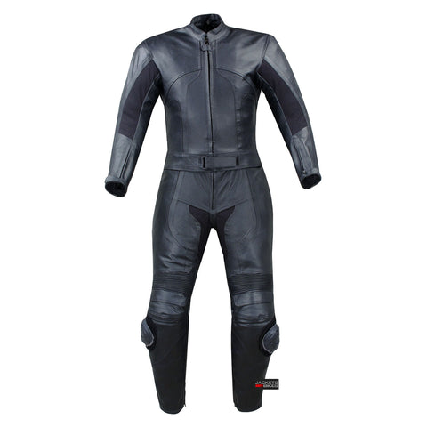 1PC WOMENS MOTORCYCLE LEATHER RACING 1PC SUIT BLACK