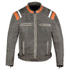 Men's Classic Cafe Racer Street Motorcycle Distress Leather Armor Biker Jacket