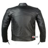 MEN MOTORCYCLE TOURING CRUISER VENTED LEATHER ARMOR JACKET