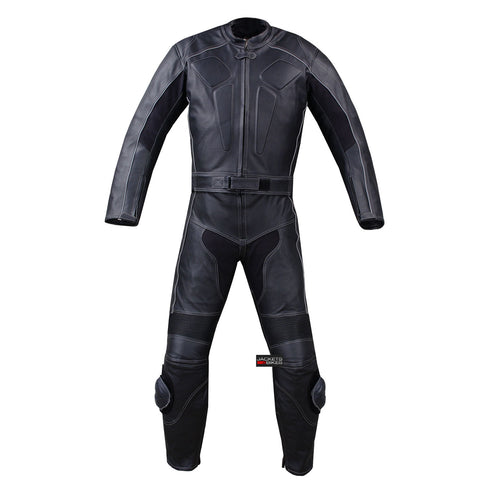 2PC MOTORCYCLE LEATHER RACING HUMP 2 PC SUIT ARMOR
