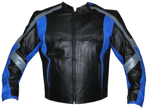 MR Leather Armor Motorcycle Jacket Blue Armour Bike