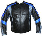 MR Leather Armor Motorcycle Jacket Silver Armour Bike