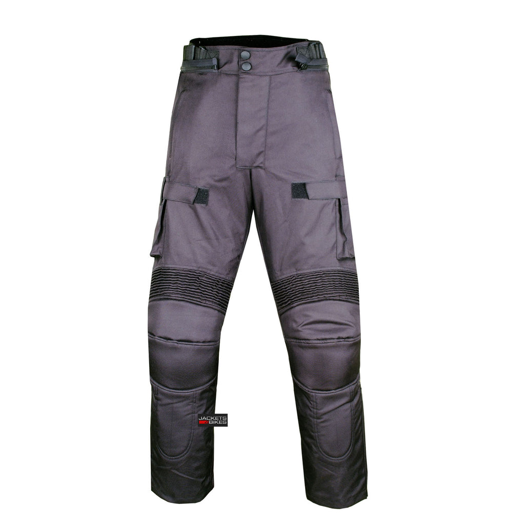 Motorcycle gloves with id pocket - Motorcycle Textile Pants Waterproof Cruiser Touring Riding Removable Armor Black