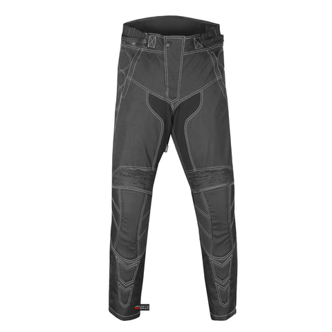 Men's Motorcycle Cordura Waterproof Touring Removable Armor Black Pants