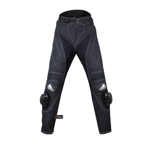 CHARGER MOTORCYCLE BIKE RIDING LEATHER PANTS BLACK