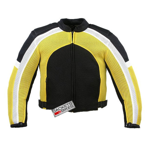 MESH MOTORCYCLE JACKET RAIN WATERPROOF LINER YELLOW