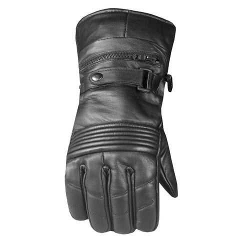 -20 ℉ Men's Premium Leather Thermal Winter Waterproof Cover Motorcycle Gloves