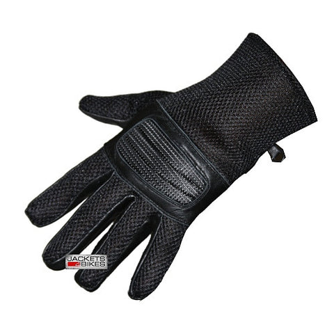 NEW S14 SUMMER MESH MOTORCYCLE BIKE GLOVES BLACK