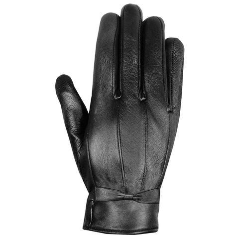 Premium Fashion Lambskin Winter Driving Dress Gloves Thermal Lined Black