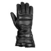 NEW BIKER GAUNTLET MOTORCYCLE LEATHER GLOVES BLACK