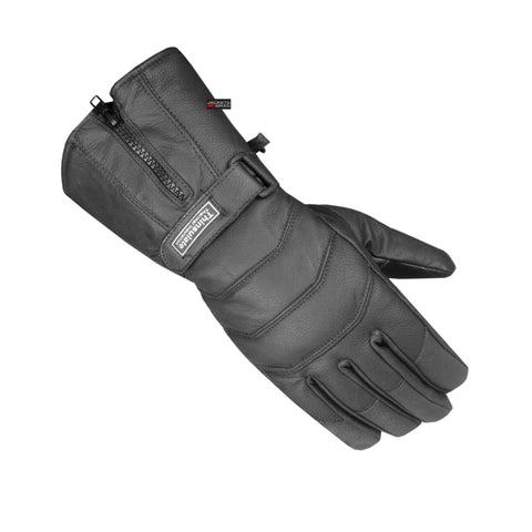 Men's Thinsulate Sheep Leather Winter Motorcycle Street Cruiser Gloves Black