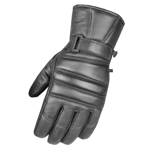 Premium Men's Dress Warm Winter Thinsulate Genuine Leather Motorcycle Gloves